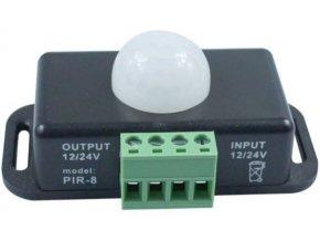 PIR čidlo PIR8, 12-24V 8A pre LED pásiky