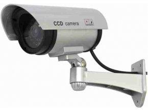 Atrapa kamery IR CCD, vonkajšie, strieborná