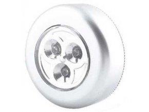 Svietidlo LED 3x - strieborná, napájanie 3xAAA