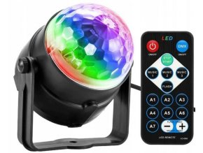 Disco LED guľa s diaľkovým ovládačom