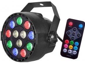 Disco LED DJ světlo RGB12x3W DMX512