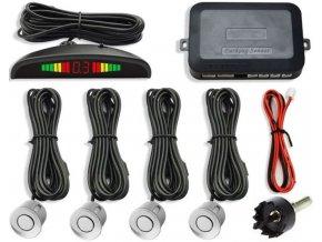 Parkovací alarm KQLD01 so 4 senzormi, LED displej, biele senzory