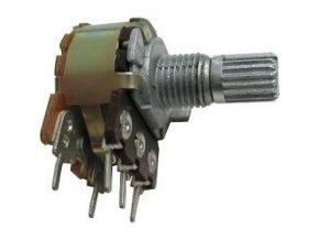 10k / G hriadeľ 6x13mm, potenciometer otočný tandemový