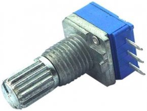 100k / G, WH9011A, hriadeľ 6x15mm, potenciometer otočný