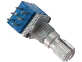 100k / G x2, WH9011A, hriadeľ 6x15mm, potenciometer otočný tandemový
