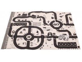 Hrací podložka pro děti , dopravní značky - 130x100cm