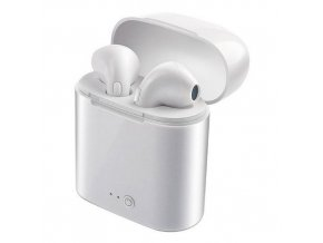 Bluetooth bezdrôtová slúchadlá i7s TWS bielej
