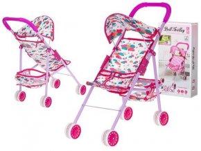 Kočík pre bábiky palice, ružový