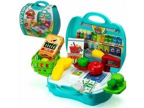 Sada v kufru, pokladna a zelenina