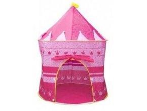 Detský stan pre deti, zámok - ružový