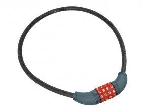 Zámok na bicykel-lanko, kódové zamykanie, 10x650mm, EXTOL, 8857822