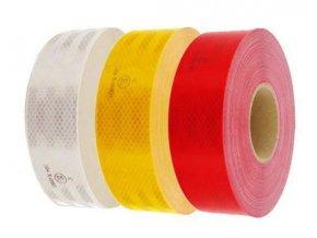 Reflexná páska červená, šírka 50mm