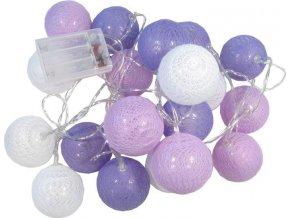 Vánoční a párty osvětlení - 20x koule LED multicolor, délka 3m