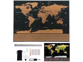 Stieracie mapa sveta 85x59cm