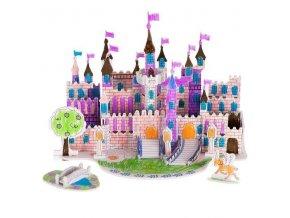 Papierové 3D puzzle s barvičkami- Zámok 38 dielov