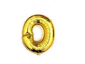 Balón fóliové číslo- 0, cca 76cm, zlatý
