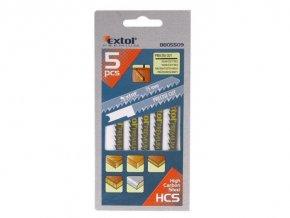 Plátky do priamočiarej píly 5ks, 75x4,0mm, HCS, EXTOL PREMIUM, 8805509