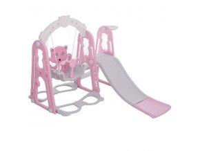 Detské ihrisko 3v1- ružová