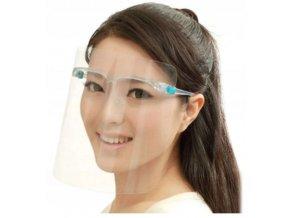Ochranný štít na tvár s okuliarmi