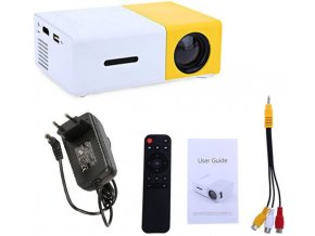 Mini LED projektor YG-300, 600 Lumenů