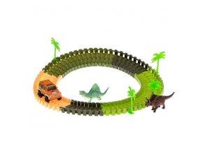 Dinosaurie autodráha 106 dielikov