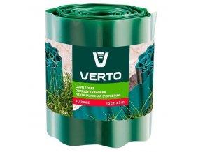 Plastový obrubník - okraj trávnika 15cmx9m, zelený, VERTO
