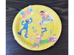 Papírové talířky žluté, 18cm, 8ks