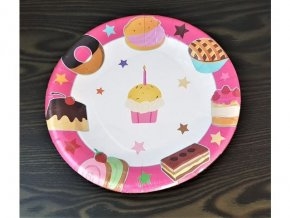 Papierové tanieriky, 23cm, 8ks