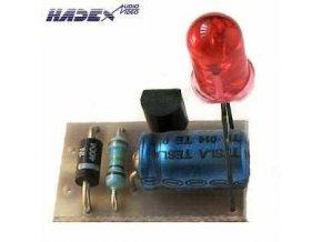 Indikátor 230V AC LED červená elektronická stavebnica