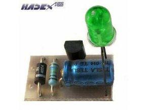 Indikátor 230V AC LED zelená elektronická stavebnica