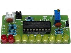 Indikátor vybudenie 10 LED, STAVEBNICA