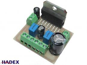 Zosilňovač 2x25W nf stereo s TDA7375 - malé rozmery, STAVEBNICA