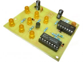 Hrací kostka elektronická žlutá elektronická stavebnica