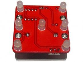 Hracia kocka elektronická vibračné červená, STAVEBNICA