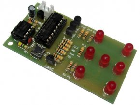 Hrací kostka elektronická červená, elektronická stavebnica ISCK057A