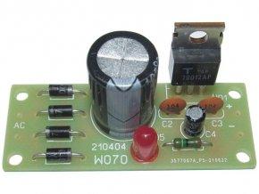 Zdroj stabilizovaný 5V/1A 52x22mm elektronická stavebnica