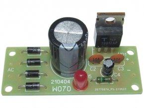 Zdroj stabilizovaný 12V/1A 52x22mm elektronická stavebnica