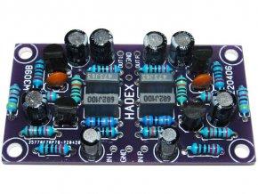 Predzosilňovač pre magnetodynamickú prenosku, stereo, STAVEBNICA