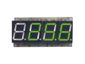 Digitálny teplomer -50 až 125 ° C zelená farba STAVEBNICA