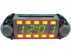 Digitální hodiny LED multicolor, STAVEBNICE