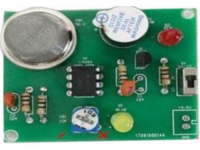 Detektor horľavých plynov so senzorom MQ-2, výstup piezo, STAVEBNICA