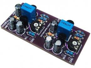 Předzesilovač pro dynamický mikrofon STEREO elektronická stavebnica