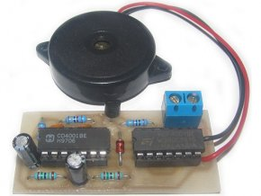 Couvací pípátko pro auto 12až 24V elektronická stavebnica