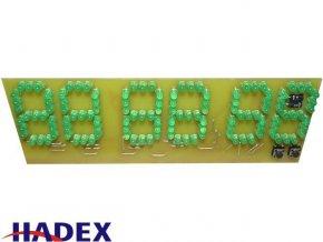 Digitální hodiny LED zelená STAVEBNICE