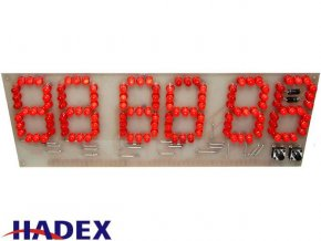 Digitální hodiny LED červená STAVEBNICE