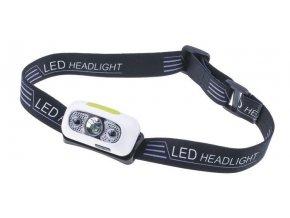 Svietidlo, čelovka LED biela s pohybovým senzorom a akumulátorom
