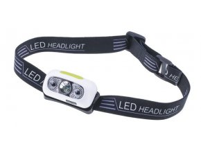 Svítilna, čelovka LED bílá s pohybovým senzorem a akumulátorem