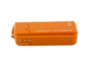 PowerBank na tužkové batérie s LED svietidlom