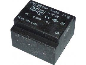 Trafo DPS 0,25V 1x4V HAHN, 22x21,5x15mm BV2010123
