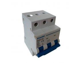 Jistič Showpelec SPB1-63 B25, 400V/25A/B 3fázový na DIN lištu